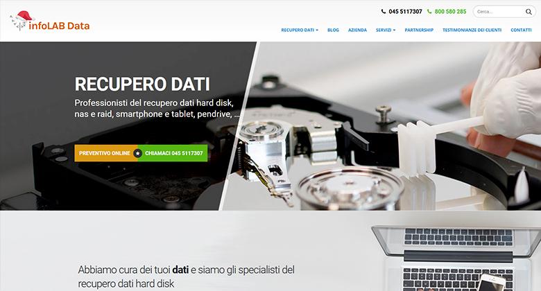 Infolab Data Recupero Dati - Sito realizzato da Mikroweb digital agency a Verona