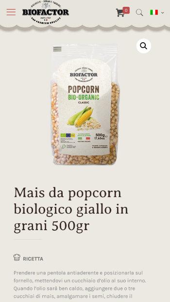 Biofactor Popcorn Biologico - Vista Mobile 3