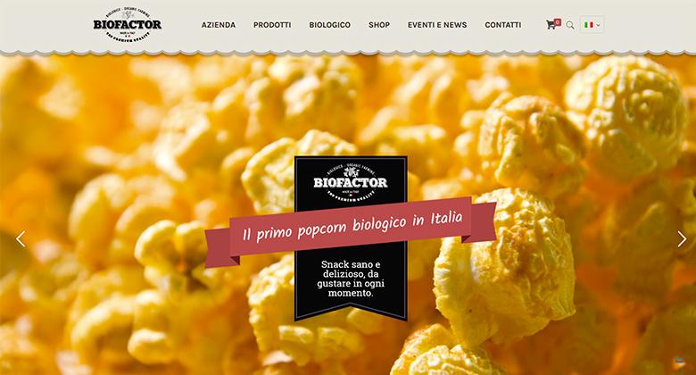 Biofactor Azienda Agricola di Popcorn Biologici - Ecommerce Realizzato da Mikroweb Agenzia Web