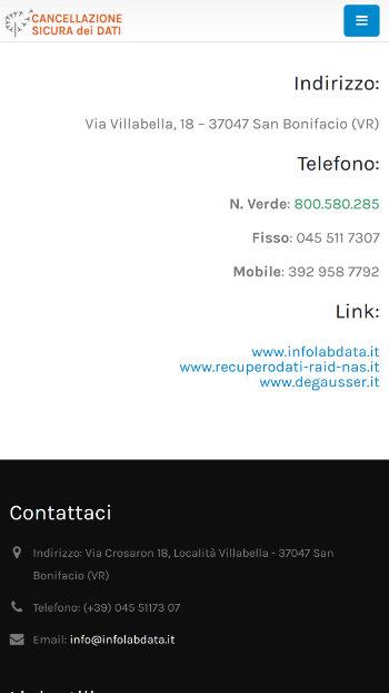 Cancellazione sicura dei Dati - Privacy, GDPR, Norme protezione dei dati - Mobile view 2