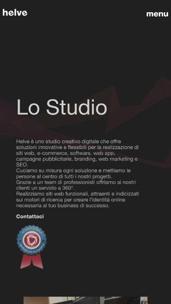 Helve Studio - Agenzia Digitale - Mobile View 2