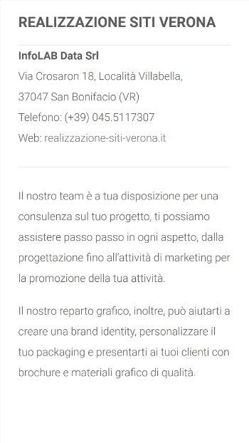 Realizzazione siti web verona - mobile view 2